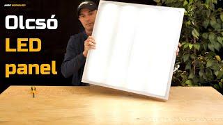 Videó: A legolcsóbb 60x60cm LED panel! V-TAC (600 x 600mm) 36W - rácsos diffúzor