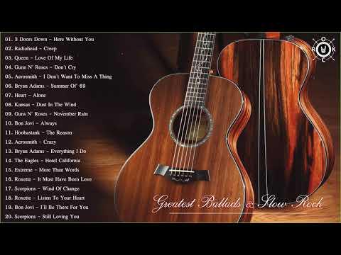 Acoustic Rock | Greatest Ballads & Slow Rock Songs 80s - 90s