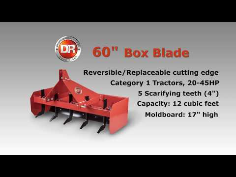 Product Video, DR 60 Inch Tractor Box Blade