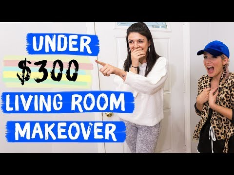 Under $300 Living Room Makeover | Mr. Kate Decorates on a Budget