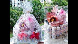 DIY Diaper Crib Baby Shower Gift Hamper