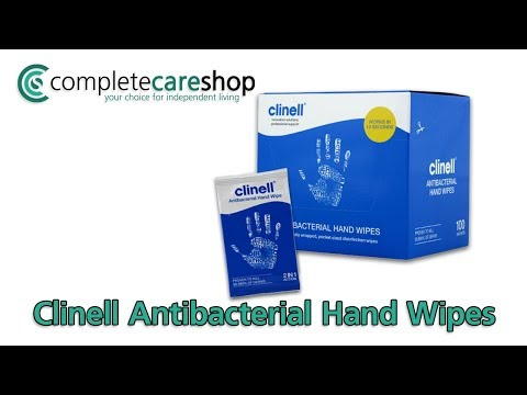 Clinell Antibacterial Hand Wipes Key Features