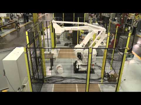 Motoman MPL160 Palletizing Robot with Custom Gripper