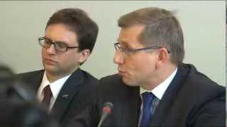 Minister Krzysztof Kwiatkowski at the NEVER AGAIN and FARE conference before Euro 2012, 15.06.2011.