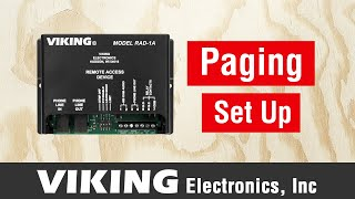 How to Set up and Program the RAD-1A for Paging