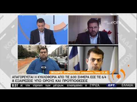 Ο εκπρόσωπος Τύπου της ΕΛΑΣ Θ. Χρονόπουλος για τα μέτρα | 23/03/2020 | ΕΡΤ