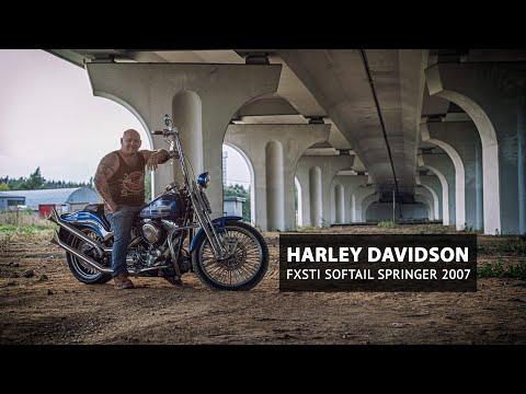 Harley Davidson fxsti softail springer 2007 Синька