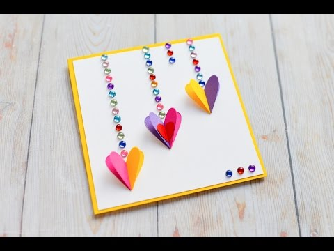 5 cute easy greeting cards srushti patil youtube download how to make greeting card valentines day hearts step by step diy kartka m4hsunfo