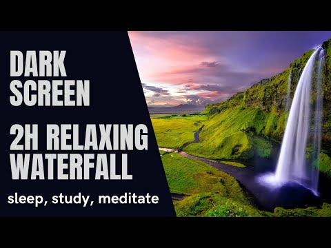 2h Relaxing Waterfall to sleep, study, meditate, relax