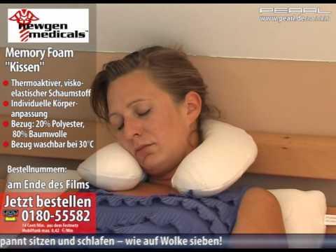 newgen medicals Rückenkissen aus thermoaktivem Memory-Foam