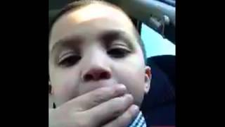 Little boy films himself telling secrets about his dad