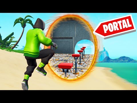 Playing A PORTAL DEATHRUN In FORTNITE! (Creative Mode)