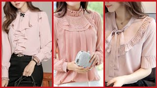 Top Class Chiffon Blouse Style For Business Womens