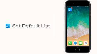 Set Default List