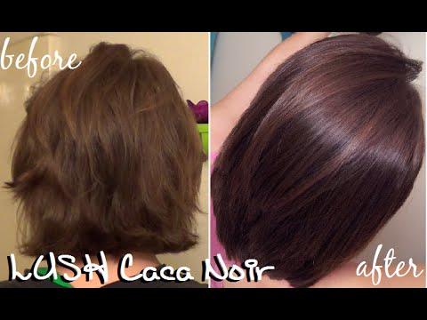 Lush Henna Hair Dye Caca Brun On Dark Hair