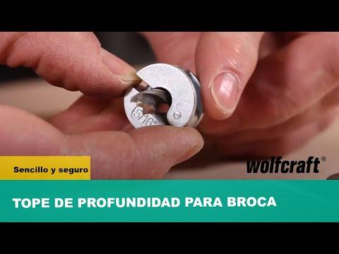 3 topes de profundidad para brocas Ø 6, 8, 10 mm Wolfcraft 2755000