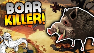 """The Flame In The Flood Gameplay - """"STONE COLD BOAR KILLER!!!""""  - Let"""