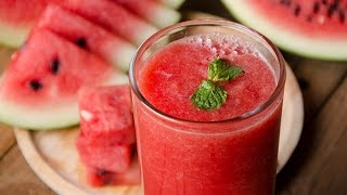Refreshing Homemade watermelon juice | तरबूज का शरबत | Health Benefits Of Watermelon  | DO AT HOME