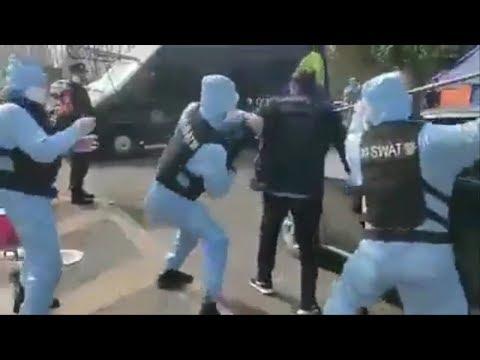 #კორონავირუსი | სწავლება - დაუმროჩილებლობის შემთხევაში როგორ იქცევა პოლიცია