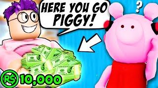 Can You Spend 10,000 ROBUX and Beat ROBLOX PIGGY!? (PIGGY HOSPITAL)