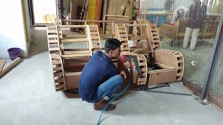 diy recliner sofa wood structure making indian design