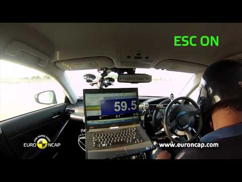 Euro NCAP | Lexus IS 300h | 2013 | ESC test