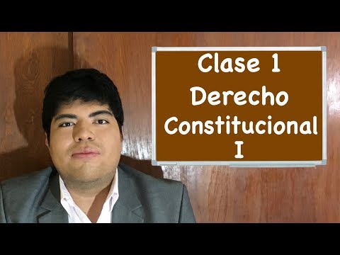 Derecho Constitucional I clase 1