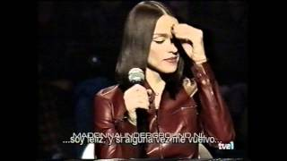 Madonna interview on Spanish TV show Ray of Light promo tour 1998