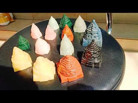 Semi Precious Stone Made Meru Shreeyantra