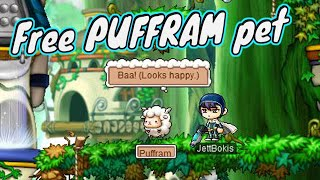 MapleStory - How To Get Free Puffram Pet!