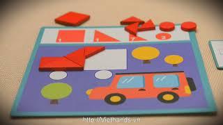 Мозаика деревянная  игра с фигурами от Mideer как Djeco от компании MiDeer - видео