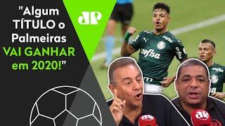 Flavio Prado provoca, mas Vampeta dá aula e defende o Palmeiras: 'Algum título vai ganhar'