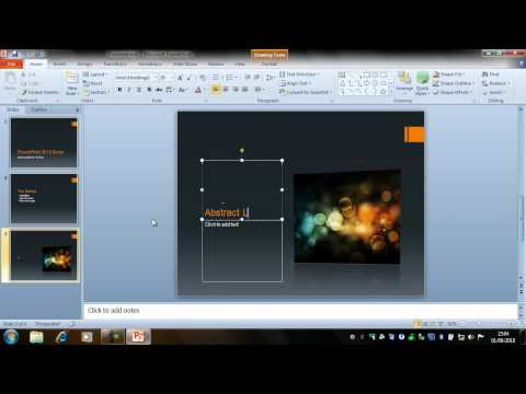 Creating a Presentation – PowerPoint 2010