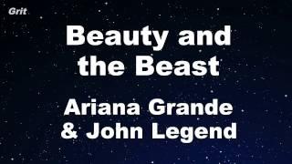 Beauty And The Beast   Ariana Grande & John Legend Karaoke 【With Guide Melody】 Instrumental