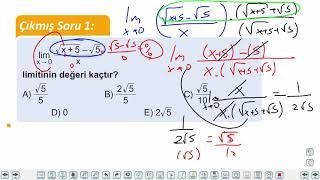 Eğitim Vadisi AYT Matematik 14.Föy Türev 1 Konu Anlatım Videoları