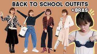 Back To School Casual Fall/Winter Outfits + Trying On Bras From 6IXTY8IGHT | Q2HAN