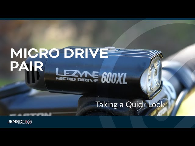 Видео Комплект света Lezyne Micro Drive 600XL/Stick Drive Pair 600/30 Lm черный