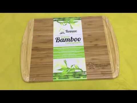 Tabla de cortar de bambú ecológico EXTRA GRANDE, Bonita, de calidad, duradera y muy grande