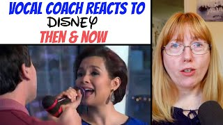 Vocal Coach Reacts to Then & Now - Disney Songs LIVE (same song comparison)