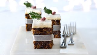 How to make a Christmas Cake Tray Bake preview