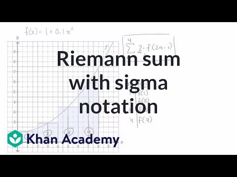 Worked example: Riemann sums in summation notation (video
