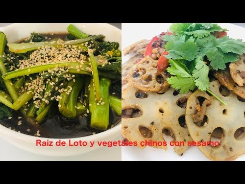 Raíz de Loto Salteada ( Recetas Chinas Veganas)