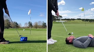 Trickster Tees Off With Impressive Holes In One