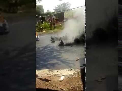 Géiser de Lodo surge en municipio de Ixtlán en Michoacan