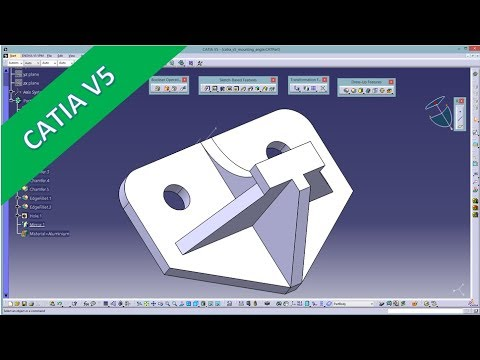 Userwish - Mounting Angle - Catia V5 Training - Part Design Mp3
