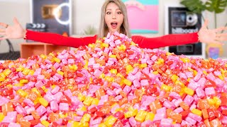 In today's video, I mixed 10000 starbursts into one giant starburst! I searched on youtube and have never seen anyone use this many starbursts so I had to challenge myself to try this out! Let me know what other projects you want me to try and upsize! Love, Wengie  SUB TO MY CATS ➜ https://www.youtube.com/MunchkinTV JOIN THE FAMILY ➜ http://bit.ly/wengiefam JOIN THE REACTIFAM  ➜ http://bit.ly/reacticorns  - - - - - - - - - - - - - - - - - - - - - - - - - - - - - - - - - - - - - - - - - - - - - - - - - ❄ TIKTOK ➜ https://www.tiktok.com/@wengie ❄ INSTAGRAM➜ http://instagram.com/wengie ❄ FACEBOOK ➜ https://www.facebook.com/wwwengie/ ❄ TWITTER ➜ http://www.twitter.com/wengie  - - - - - - - - - - - - - - - - - - - - - - - - - - - - - - - - - - - - - - - - - - - - - - - - - Please email my management at Rare Global for business enquiries only: wengie@rare.global - - - - - - - - - - - - - - - - - - - - - - - - - - - - - - - - - - - - - - - - - - - - - - - - -