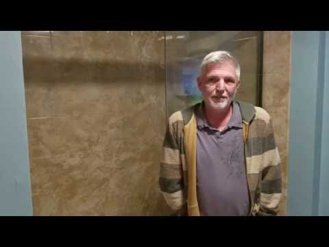 Homeowner talks about his new replacement shower we installed.