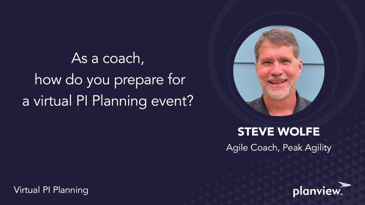 Video: As a coach, how do you prepare for a virtual PI planning event?