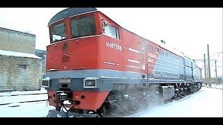 Тепловоз 2ТЭ10М - аццкий девайс! Полный обзор. // Diesel locomotive from the USSR