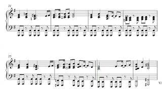 smash bros ultimate theme piano sheet music - TH-Clip